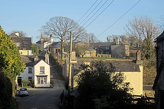 Lamerton village in the United Kingdom