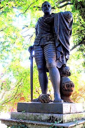 Nederlands: Origineel, gietijzeren standbeeld ...