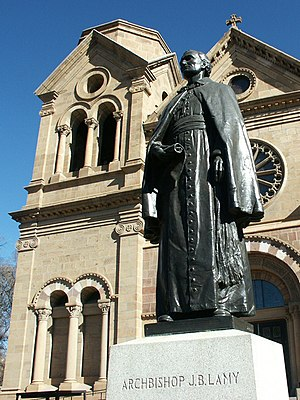 Jean-Baptiste Lamy - Bronze statue of Lamy in front of St. Francis Cathedral