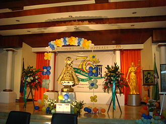Our Lady of La Naval de Manila - A replica of the image at the 76th Anniversary of the Court of Appeals of the Philippines in 2012.
