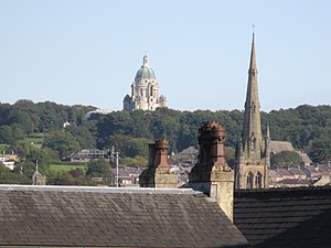 Ashton Memorial - Image: Lancaster rooftops