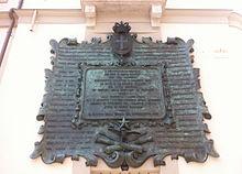 Lapide commemorativa della sottoscrizione per i cento cannoni per la Cittadella