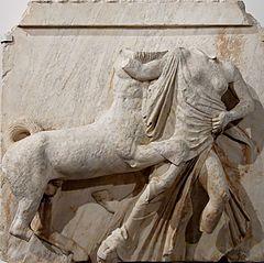 Centaure enlevant une femme lapithe