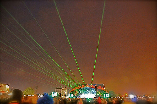 Laser show at Reading