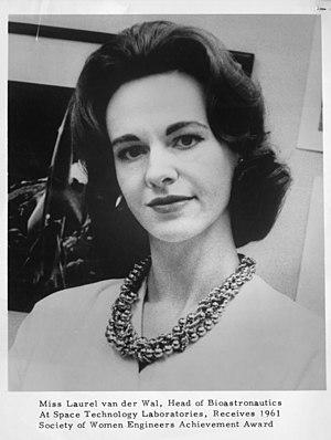 Bioastronautics - Laurel van der Wal, head of bioastronautics at Space Technology Laboratories, 1961