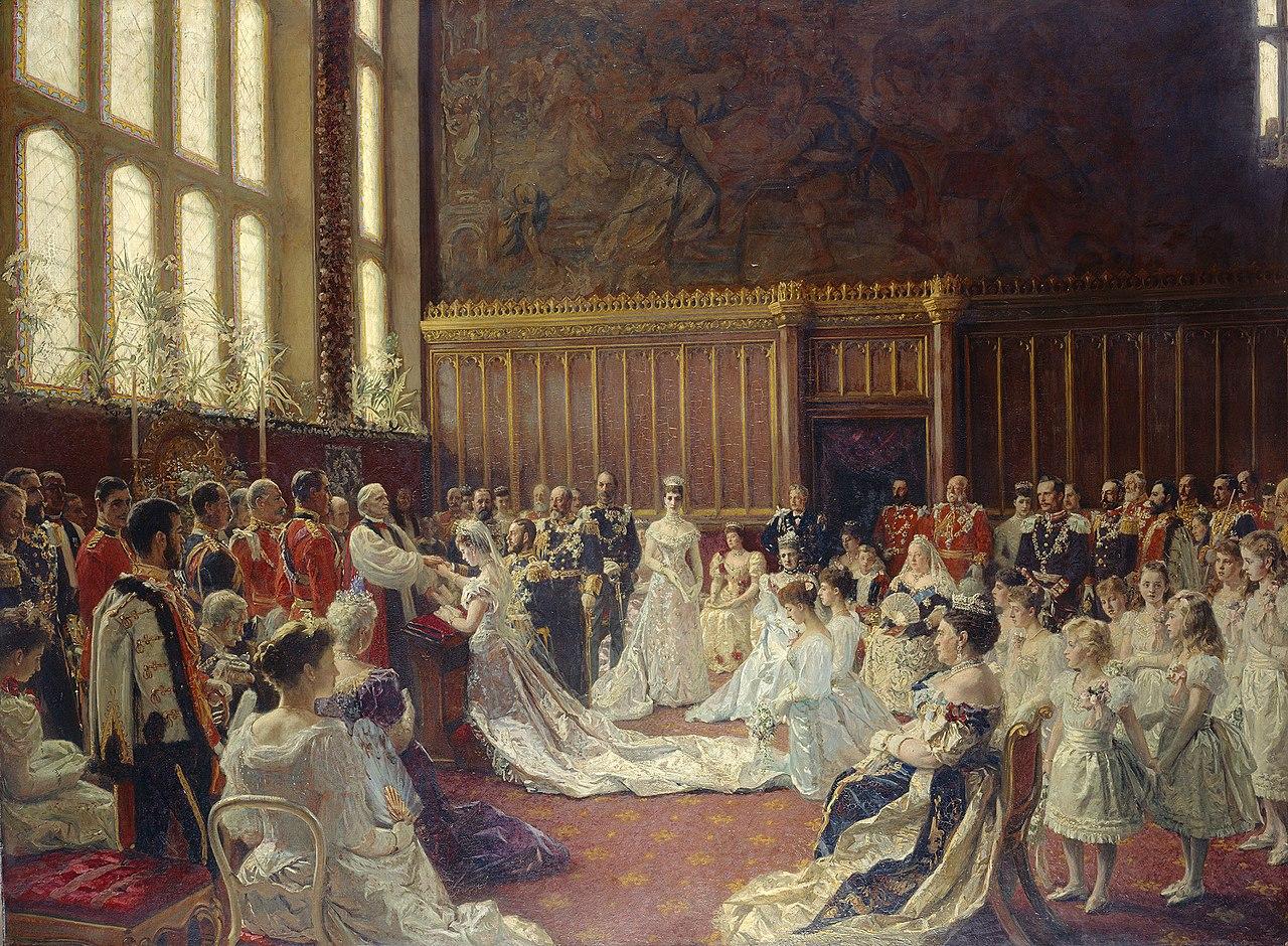 Лауриц Регнер Туксен (1853-1927) - Брак Георга, герцога Йоркского, с принцессой Марией Текской, 6 июля 1893 года - RCIN 402437 - Royal Collection.jpg