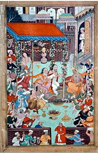 Lava (Ramayana) - Image: Lava & kusha chant Ramayana before Rama