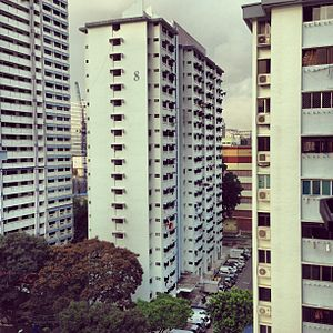 Lavender, Singapore - A view of Housing and Development Board (HDB) flats in Lavender, seen from Block 805, King George's Avenue.