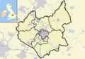 Leicestershire outline map with UK.png