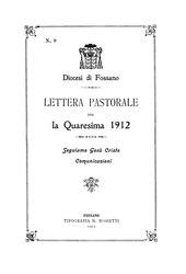 Giosuè Signori: Lettera pastorale per la Quaresima 1912