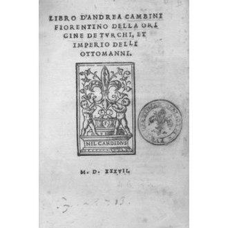 Andrea Cambini - cover of Cambini's book