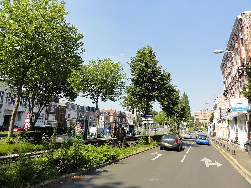 Ligne T du tramway de Lille - Roubaix - Tourcoing.