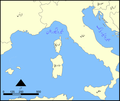 Ligurian Sea map Urdu.png