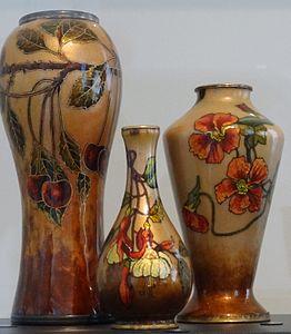 Limoges enamel Art Nouveau Paul Bonnaud