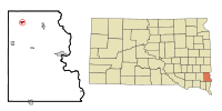 Lincoln County South Dakota Incorporated and Unincorporated areas Tea Highlighted.svg