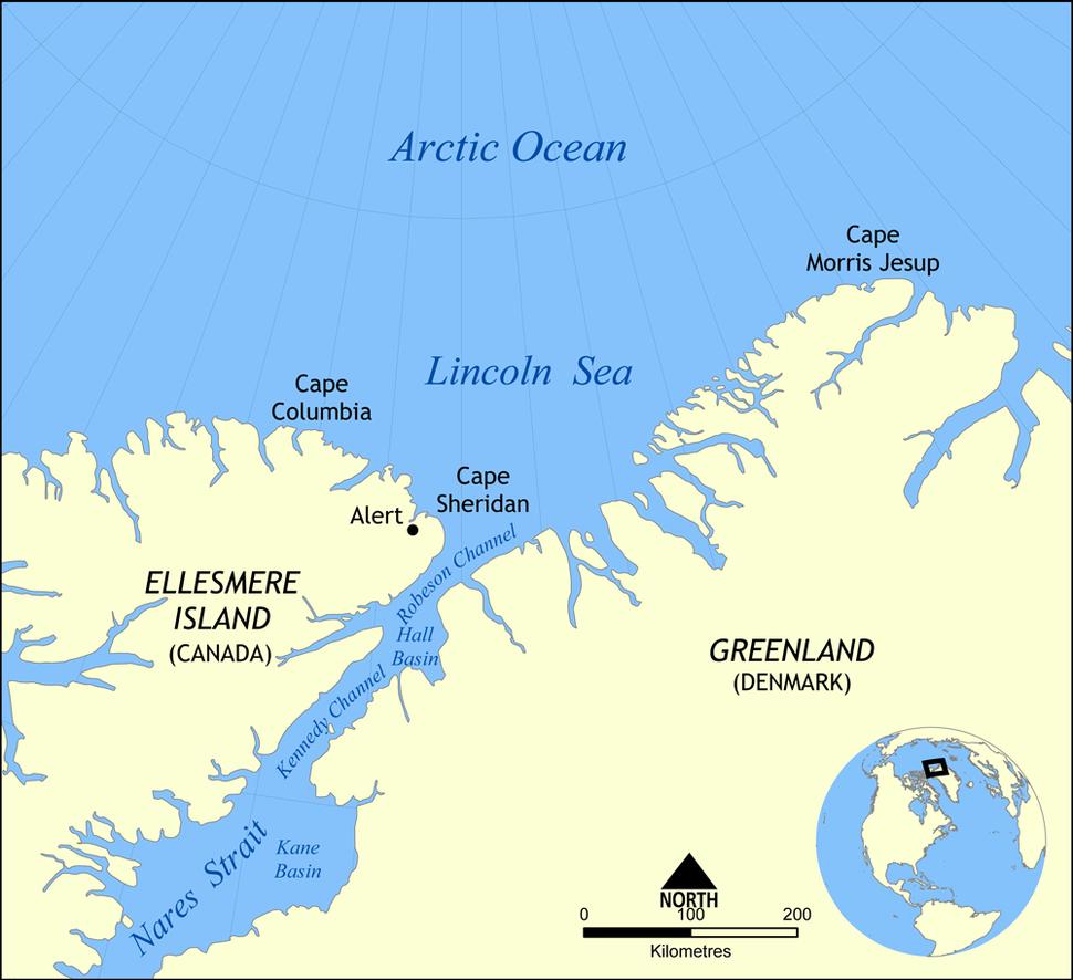 Lincoln Sea map