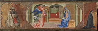 St. Benedict - The Annunciation - A Kneeling Nun