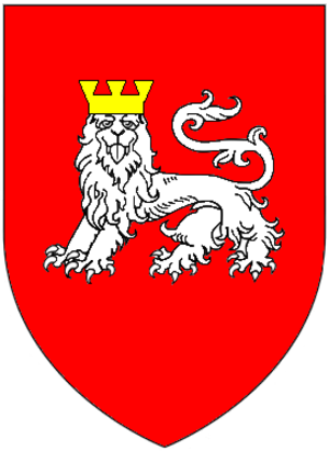 Baron Lisle - Arms of Lisle of Kingston Lisle: Gules, a lion statant guardant argent crowned or