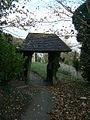 Listing lych gate - geograph.org.uk - 1599835.jpg