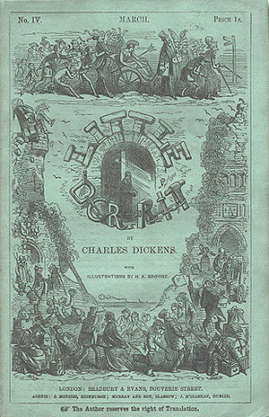 Little Dorrit - Cover of serial Vol. 4, March 1856
