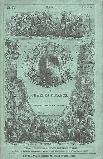 Little Dorrit - Cover of serial Volume 4, March 1856