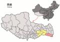 Location of Zayü within Xizang (China).png