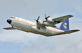 Lockheed L-100 Hercules - A Saudi Arabian Royal Flight L-100-30 taking off from RIAT 2011