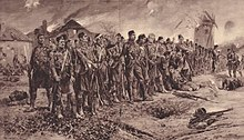 Painting of the London Scottish at the Battle of Messines