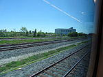 Looking out the left window on a trip from Union to Pearson, 2015 06 06 A (415) (18616252536).jpg