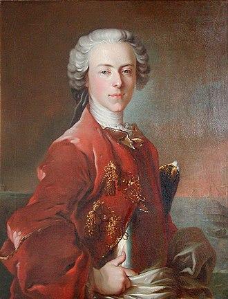 Louis Tocqué - Image: Louis Tocqué, 1736, Portrait of Frederik de Løvenørn
