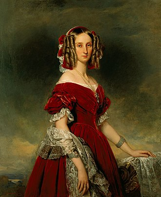 Louise of Orléans - Portrait by Franz Xaver Winterhalter, 1841