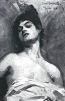 lovis corinth bc 30 pariserin mit hohem kamm 1886 sw jpg