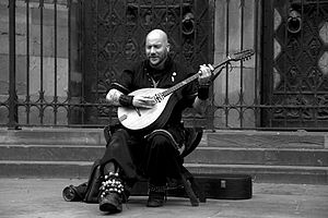 Luc Arbogast - Luc Arbogast performing in front of the Notre Dame Cathedral of Strasbourg