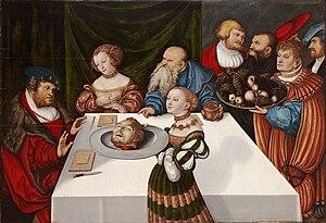 Herodias - Feast of Herod, Lucas Cranach the Elder, 1531