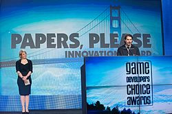 Lucas Pope - Game Developers Choice Awards 2014.jpg
