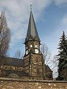 Lutherkirche Döhlen Kirchturm 2012.JPG