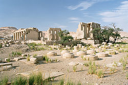 Luxor, West Bank, Ramesseum, overview, Egypt, Oct 2004.jpg