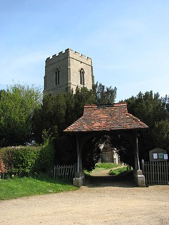 Morley Saint Botolph - Image: Lychgate and tower of St Botholph's church geograph.org.uk 773298