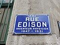 Lyon 3e - Rue Edison - Plaque 1 (janv 2019).jpg