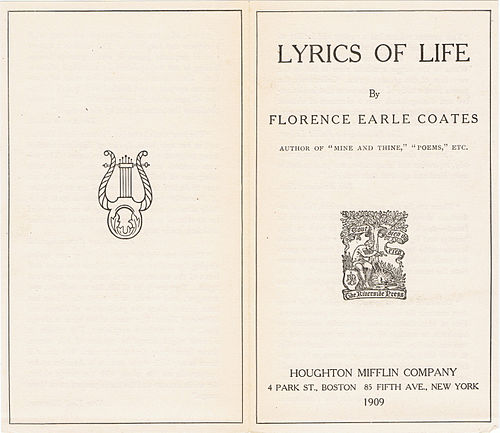 Lyrics of Life by Florence Earle Coates (Prospectus view 1).jpg