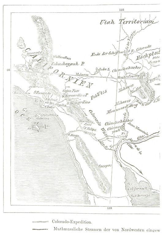 Colorado Karte.File Möllhausen 1861 2 172 Karte Der Colorado Expedition Jpg