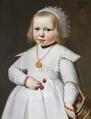 Målning. Porträtt av två-årig flicka. Jan Cornelis van Loenen - Hallwylska museet - 86731.tif