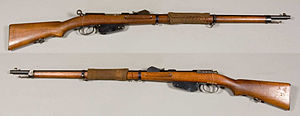 Mannlicher M1888 - Mannlicher M1888 rifle, from the collections of the Swedish Army Museum.