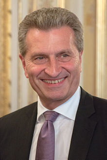 Günther Oettinger en septembre 2014.