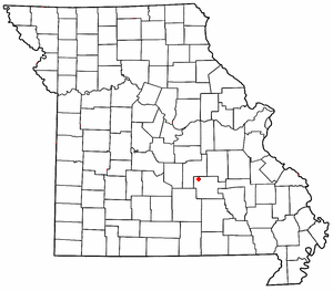 Lake Spring, Missouri - Image: MO Map doton Lake Spring