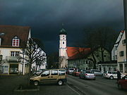 The storm arrives Markt Schwaben/Bavaria at early noon