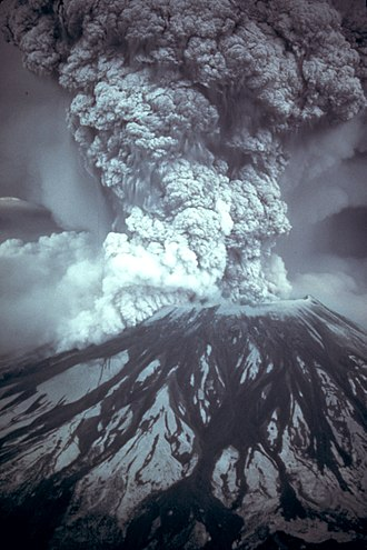Catastrophism - Eruption column around 8:35 am on May 18, 1980.