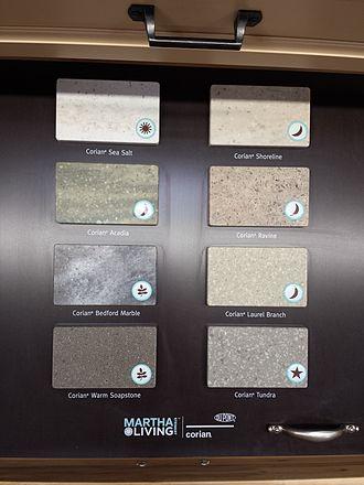 Corian - Martha Stewart Living Collection samples