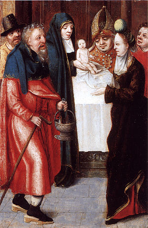 Master of 1518 - The Presentation of the Christ Child in the Temple Master of 1518 Oil on panel private coll.