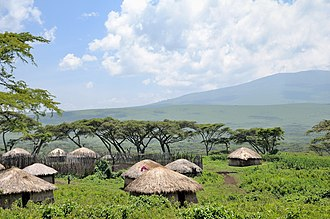 Boma (enclosure) - Maasai boma in the Ngorongoro Conservation Area in Tanzania.